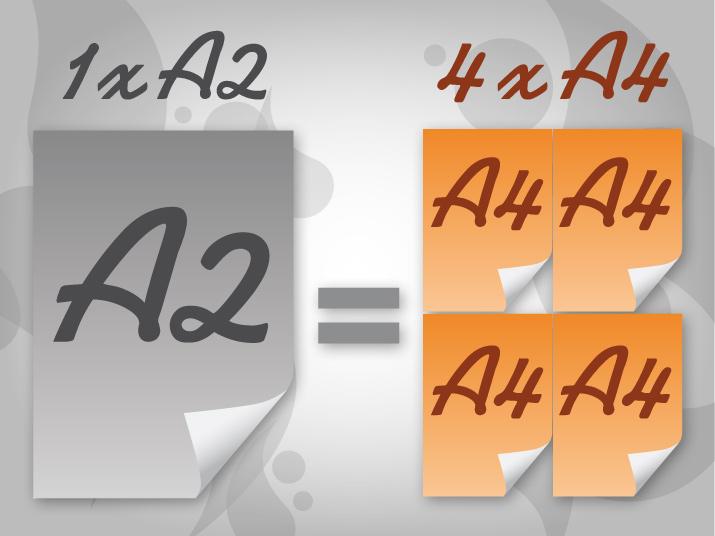a2 a4 conversion between a4 paper and a2 paper