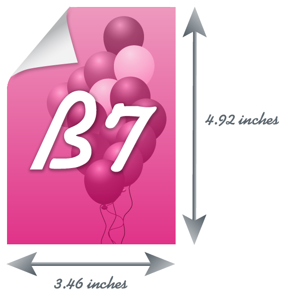 B7 Paper Size : All informations about B7 sheet of paper